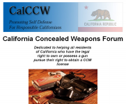 California Concealed Weapon (CCW) ForumThumbnail